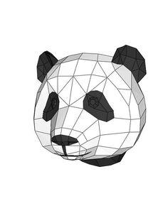 Экотрофей Панда шаблон для печатиинструкция по
