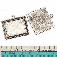 Zinc Alloy Square Pendants,Cabochon Setting,Plated,Cadmium And Lead Free,Various Color For Choice,Approx 32*32*2.5mm,Area:Approx 24.5*20mm,Hole:Approx 2mm,Sold By Bags,No 010194