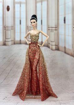 4ddbba3785 Fahsai Design Gown Outfit Dress Fashion Royalty Silkstone Barbie Model Doll  FR  FahsaiDesign