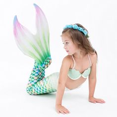 Swimwear Set Bathing Suit Swimsuit Mermaid Tail For Girls Kids Girls Mermaid Tail Swimming Costume Included Swimmable Bikini Swimsuit And Flower Garland HeadbandMultiple Colors Available Pieces Pieces Sets Girls Mermaid Tail, Mermaid Swim Tail, Fin Fun Mermaid, Mermaid Tails For Kids, Mermaid Swimsuit, Mermaid Swimming, Realistic Mermaid Tails, Bikini Swimsuit, Baby Doll Nursery