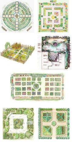 Kitchen garden designs - my favorites are the Kitchen Garden Design, the Kitchen Gardening Tips, Year Round Garden Design (at least I think so; I didnt know all the formal names listed), and the Eye Catching Kitchen Garden Plan. Potager Bio, Potager Garden, Veg Garden, Edible Garden, Garden Beds, Garden Landscaping, Landscaping Design, Backyard Vegetable Gardens, Easy Garden