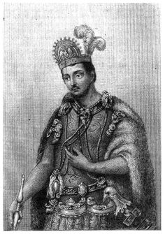 Moctezuma II Emperor of Mexico from William Hickling Prescott, The History of the Conquest of Mexico, 1843