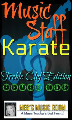 Line and Space Notes on the Treble Clef Music Staff - Karate Game for Young Musicians - PowerPoint Music Game - Elementary Music Teachers - Music Sub Game - Meg's Music Room on Teachers Pay Teachers