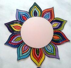 Seashell Painting, Mirror Painting, Dot Art Painting, Mirror Art, Mandala Art, Mandala Painting, Mandala Design, Mirror Mosaic, Mosaic Art