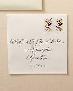 wedding invitation envelope wording – Wedding Tips Handwritten Wedding Invitations, Wedding Invitation Envelopes, Wedding Invitation Design, Wedding Etiquette, Wedding Clip, Wedding Planning Checklist, Martha Stewart Weddings, Unique Weddings, Stationery