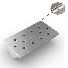V Shaped Smoker Box Small - 25% THICKER STAINLESS STEEL W...