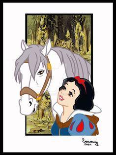 01.Blancanieves y el caballo by Rob32 on DeviantArt