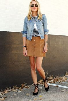 lace-up-flats-suede-skirt