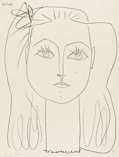 Françoise with a Bow in Her Hair (1946), Pablo Picasso