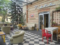 piens 6 - best bars in Riga, Latvia Coffee Jitters, Visit Riga, Cool Bars, Places To See, Wifi, Riga Latvia, Good Things, Patio, Outdoor Decor