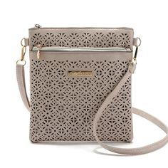 2016 Small Casual women messenger bags PU hollow out crossbody bags ladies shoulder purse and handbags bolsas feminina