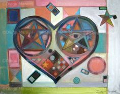 """""""corazon 4"""", acrylic on canvas, 36 x 46 cm. year 2009 Price of original painting: inquire"""