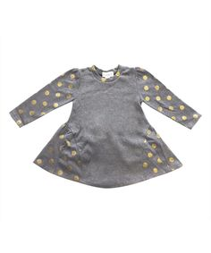 Another great find on #zulily! Gray Polka Dot Tunic & Cat Crossbody Bag - Toddler & Girls by Giovanna & Felice #zulilyfinds