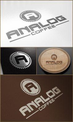 Analog Coffe logo by Andrei Cosma   #logo #corporatedesign #corporate-identity #identity #corporate #inspiration  www.facebook.com/BlickeDeeler.de