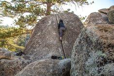 That crack climb life. - Big Bear, CA