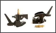 Studio Clamp w/ Double Stud , can be used for light set up w/ umbrella