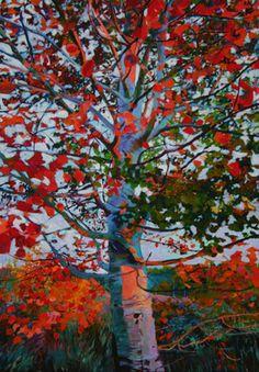 """Ellen Dittebrandt;  """"Red Tree"""""""