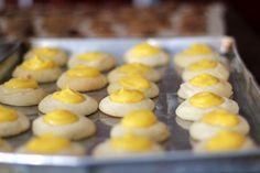 Lemon Shortbread Thumbprint Cookies