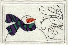 Brrr ~ Fabric Postcard | Flickr - Photo Sharing!