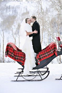 Winter Wedding - in a white dress of course !
