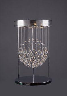 @bethelintl - C&D 4D, 4G, 3-Light clear crystal drop table lamp. #DesignOnHPMkt #HPMKT