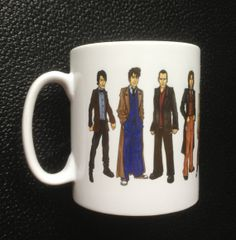 Dr. Who Mug with all Eleven Doctors 50th Anniversary Special on Etsy