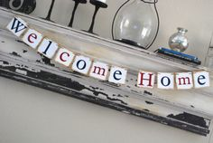 Welcome Home Banner  Bunting Garland  Sign  by GreenJazzFace, $20.00