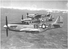 P-51,s of the 361st FG, Cavort over their Bottisham base