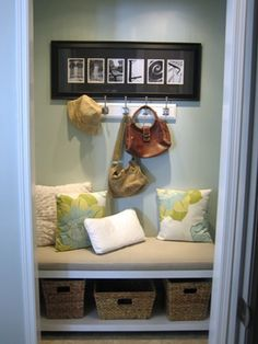 front hall closet makeover