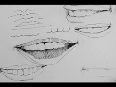 ▶ Pen & Ink Drawing Tutorial | Simple Tips on how to draw smiles and teeth - YouTube