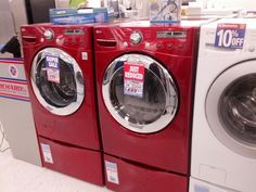 lg red washer dryer pinterest