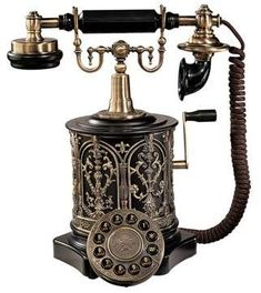 The Swedish Royal Family Replica Telephone and more replica vintage telephones by Design Toscano Telephone Retro, Telephone Call, Antique Phone, Vintage Phones, Swedish Royals, Old Phone, Objet D'art, Radios, Vintage Antiques