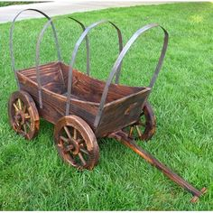 Cover Wagon Planter- love this!!! Thinking we need some OU painted on this somewhere :)