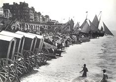 Image Reference: Date: 1892 Image Details: Copy Size of Original: Place: Brighton Additional Information: Sails advertising Beecham's Pills. Brighton England, Brighton Sea, Brighton Sussex, Brighton Rock, Brighton And Hove, East Sussex, Images Of England, Seaside Beach, Beach Huts