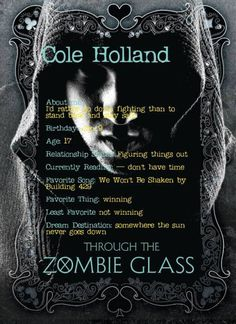 Meet Cole from Through the Zombie Glass by Gena Showalter