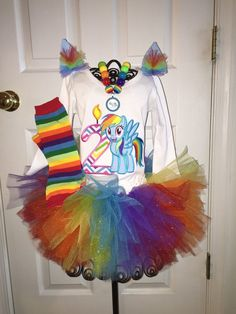 Girls My Little Pony Rainbow Dash  Birthday by SlickandBoogers