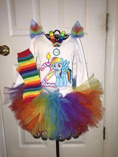 Girls My Little Pony Rainbow Dash  Birthday by SlickandBoogers