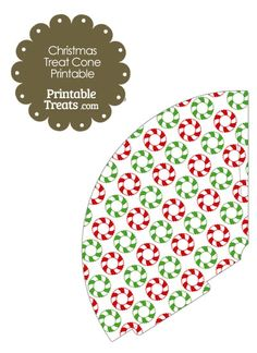 Christmas Wreath Printable Treat Cone from PrintableTreats.com