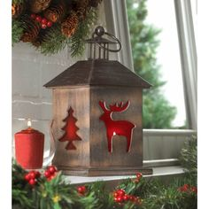 Holiday Cabin Wooden Lant... - AC Treasures | Scott's Marketplace