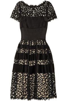 Temperley LondonSilk-blend satin and lace dress