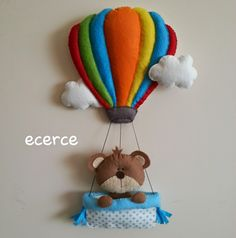 ecerce: balonda ayıcık kapı süsü ( yeni model)