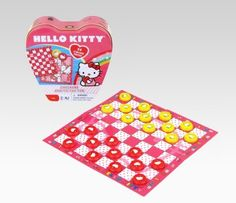 Hello Kitty Checkers and Tic Tac Toe Game Set