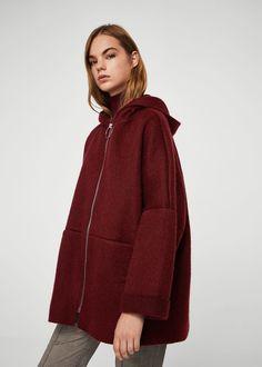 Hood mohair coat -  Women | MANGO USA