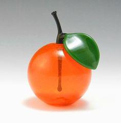 Orange Perfume Bottle: Garrett Keisling: Art Glass Perfume Bottle - Artful Home