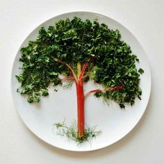 Cool food art. And I was always told not to play with my food....