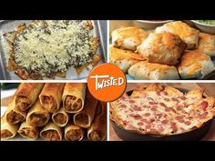 Who knew a tortilla can be so versatile? A simple tortilla can produce the most delicious and amazing recipes and this Twisted video is proof. Enjoy these Tortilla Pizza, Tortilla Recipe, Pizza Recipes, Mexican Food Recipes, Cooking Recipes, Chicken Fajita Wraps, Twisted Recipes, Sandwiches, Food Videos