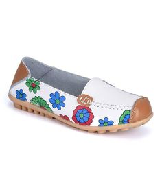 534317a62063 Jazz up your wardrobe with these floral loafers featuring supple leather  and anti-skid soles