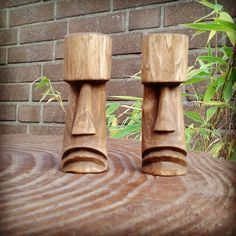 Simple Wood Carving, Wood Carving Art, Wood Art, Woodworking Projects Diy, Diy Wood Projects, Wood Crafts, Wood Carving Patterns, Carving Designs, Tiki Head