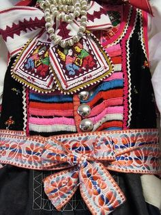 Važec village, Liptov region, Central Slovakia. Traditional Fashion, Traditional Outfits, Tribal People, Rugged Style, Textiles, Folk Embroidery, Clothing And Textile, Lifestyle Clothing, Folk Costume