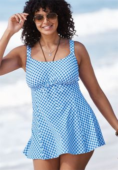 f94a7580e9f2c Gingham Swimdress by Fit4U